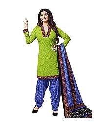 Aarvi Women's Cotton Unstiched Dress Material Multicolor -CV00138