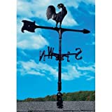 Whitehall Products, Rooster Aluminum 30 inch Accent Weathervane 00071, 7 inches in length by 8.5 inches high, black