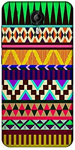 Snoogg Aztec Big Flow Designer Protective Back Case Cover For Micromax Canvas Nitro 3 E455