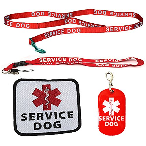 Service Dog Leash with Complimentary Kit - 3 Service Dog Bonuses Including: Service Dog Collar Tag, Lanyard, and Patch. Small to Medium Sized Dog. (Service Dog Leash Patch compare prices)