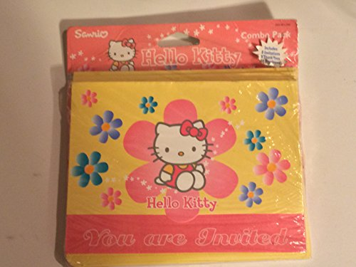 Hello Kitty Combo Pack Invitations Thank Yous Envelopes