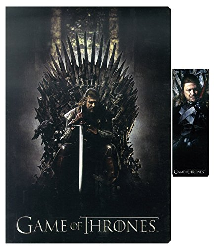 sd-toys-sdthbo02079-game-of-thrones-notizblock-und-magnetische-lesezeichen-set-ned-on-throne
