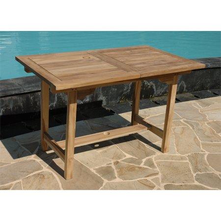 Ausziehbarer tisch aus teakholz ca 120 180 x for Massivholztisch ausziehbar