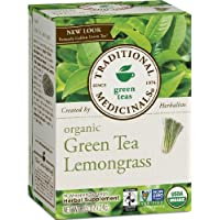 Organic Green Tea with Lemongrass, Traditional Medicinals, 16 count wrapped tea bags
