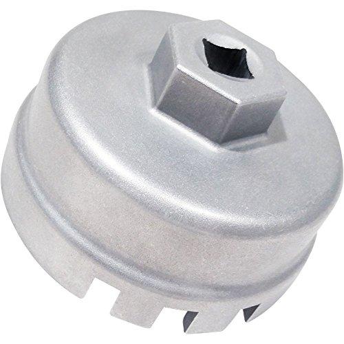 Caldera 64mm Oil Filter Wrench for 1.8 Liter Toyota Corolla, Prius, Matrix, Lexus CT200h, Scion xD, iQ Engines (Toyota Oil Filter Kit compare prices)