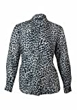 Jones New York Women's Button-Up Animal Print Chiffon Blouse