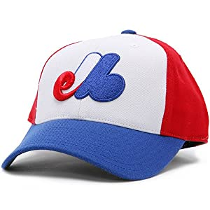 Montreal Expos 1969-91 Cooperstown Fitted Hat - White Royal Red 7 5 8 by MLB