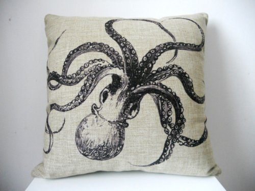 Great Deal! HOSL Decorative Cotton Linen Square Throw Pillow Case Cushion Cover Throw Pillow Shell P...