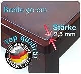 Tischdecke-Tischfolie-Schutzfolie-Folie-transparent-90-cm-Breit-Ca-25mm-160cm