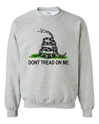 Artix Don'T Tread On Me Unisex Crewneck Fashion Gadsden Flag Sweatshirts 3X-Large Sports Grey