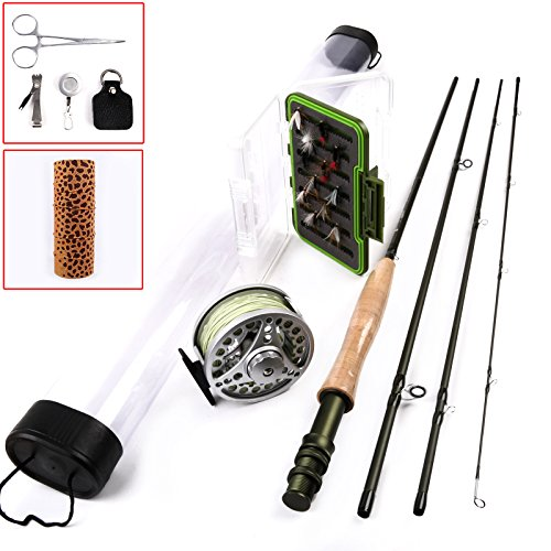 Maxcatch Trout Fly Fishing Rod Combo Fly Reel Line Outfit 5weight with Fly Line Backing Accessories