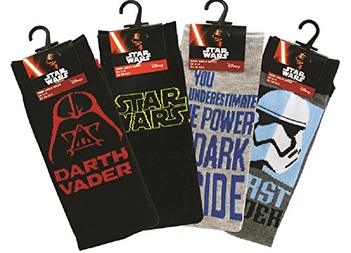 Calze Star Wars, taglia EU 39-45, motivi vari, 2 paia
