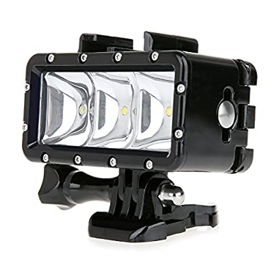 Bestshoot 30M Waterproof LED Video Light Fill Night Light for Gopro Hero 4 3+3 2 Session SJCAMsj5000 Xiaoyi Diving Lover