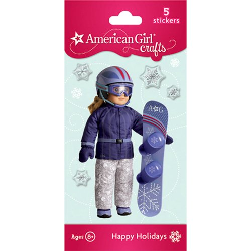 Snowboard Doll Bubble Stickers - 1