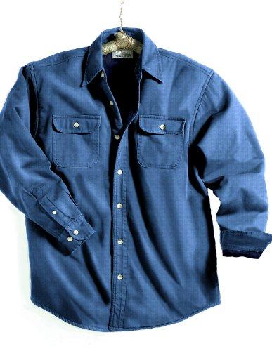 Tri-Mountain Fleece Lining Denim Shirt Jacket(Size - XX-Large) - (Color - MEDIUM INDIGO / NAVY) at Sears.com