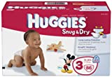 Huggies Snug and Dry Diapers, Size 3, 86 Count