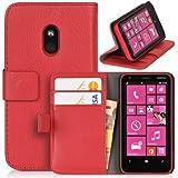 DONZO Wallet Structure Tasche für Nokia Lumia 620 Rot