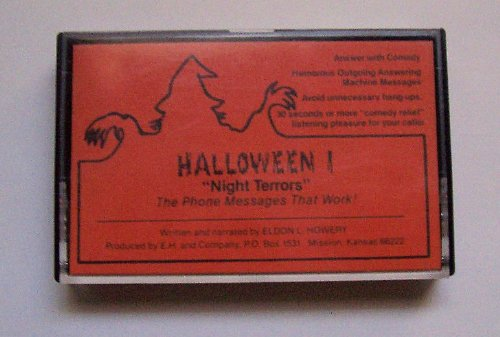 """Abc Products"" - Halloween ~ Answering Machine Messages On Cassette Tape- ""Night Terrors"" (8 Messages With Music, Sound Effects, Howling, Screaming And Etc.)"