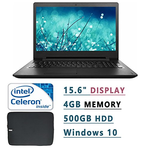 Lenovo 15.6 Inch HD Laptop PC With Woov Laptop Sleeve ( Intel Celeron N3060 Dual-Core, 1.60 GHz, 4GB RAM, 500GB...