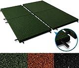 Fallschutzmatten Play Protect United   mit Steckverbindern   grün   made in Germany   einzeln oder im 2er Set (2 Stück: 100 x 100 cm)
