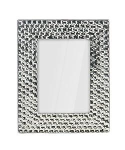 Premier Housewares 5 x 7-inch Photo Frame Hammered Effect Ceramic - Silver