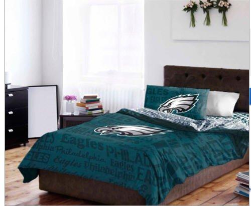 Philadelphia Eagles Nfl Queen Comforter & Sheet Set (5 Piece Bedding) front-946996