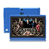 iRulu 7 inch Android Tablet PC, 4.2 Jelly Bean OS, Dual Core, Allwinner A23 CPU, Dual Cameras, 5 Point Capacitive Touch Screen, 8GB Storage,Blue Color