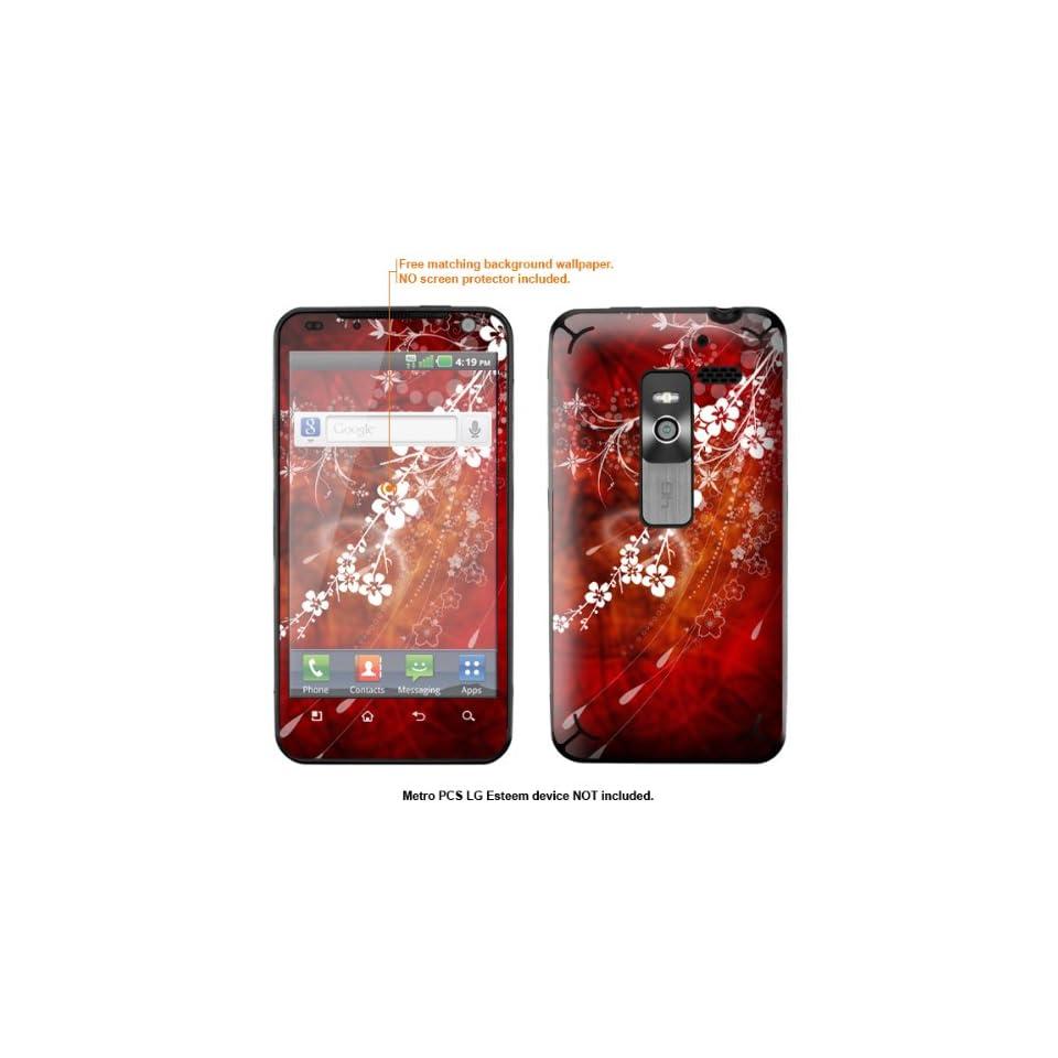 Protective Decal Skin Sticker for Metro PCS LG Esteem 4G case cover Esteem 153