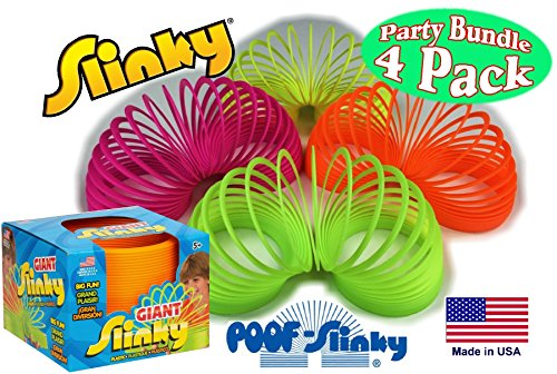 poof-slinky-original-plastic-giant-slinky-neon-colors-green-orange-pink-yellow-gift-set-party-bundle