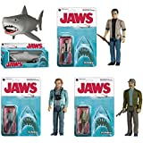 Funko Jaws Matt Hooper, Martin Brody, Quint and Great White ReAction Retro Action Figure
