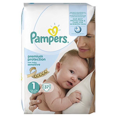 Pampers New Baby, Pack 2 x 37 Pannolini, Taglia 1 (2-5 kg)