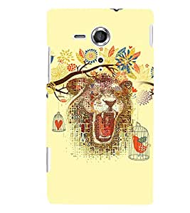 PrintVisa Animal Bear Art 3D Hard Polycarbonate Designer Back Case Cover for Sony Xperia SP