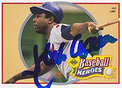 HANK AARON SIGNED UPPER DECK HEROES #22 BASEBALL TRADING CARD ATLANTA BRAVES 3000th HIT JSA COA