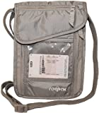 Neck Travel Wallet to Secure Passports, Money, Credit Cards, Mobile Phones, Tickets, Boarding Pass - Quality Lightweight Neck Pouch Organiser with ID Display Window - This Passport Neck Holder can also be worn as Shoulder Travel Wallet - By Raqpak (Grey)