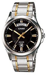 Casio Enticer Analog Black Dial Mens Watch - MTP-1381G-1AVDF (A842)