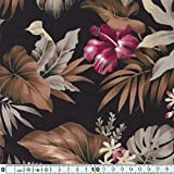 キャシー中島のハワイアンプリント生地  マリエ柄 (20100-80) ※価格は、10cmの価格です。ご注文は、50cmから10cm単位で承ります。