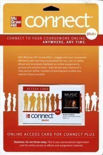Connect Plus Access Code for Music: An Appreciation Brief 7e