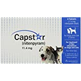 Novartis Capstar Flea Tablets for Dogs and Cats, 6 Count, 2-25 lbs, Blue