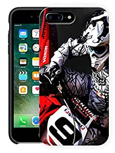 """Humor Gang Moto Racing Love Printed Designer Mobile Back Cover For """"Apple Iphone 7 Plus"""" (3D, Matte, Premium Quality Snap On Case)"""