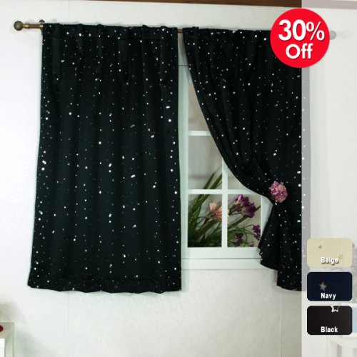 Buying Blackout Window Curtains Online Star Print Thermal Insulated Blackout Curtain 63 L 1set