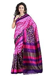Pruthu Printed Art Silk Saree with Blouse Piece (pas_selena_Pink)