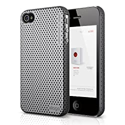 elago S4 Breathe2 Case for iPhone 4/4S - Semigloss Metalic Dark Gray + HD Professional Extreme Clear film