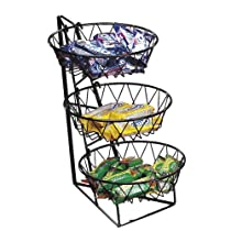 CalMil 3 Tier Wire Round Basket Rack