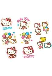 16-Piece Hello Kitty Balloon Dreams Tattoos, Multicolored