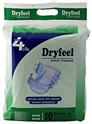 DRYFEEL Adult Diapers- Large (10 Count)