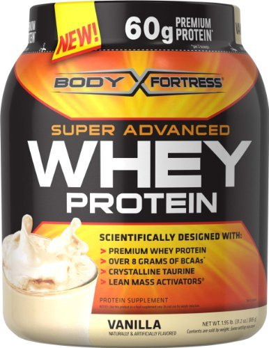 Body Fortress Whey Protein Powder, Vanilla, 31.2 Ounces (885g) (Pack of 2) Personal...