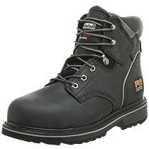 "Hot Sale Timberland PRO Men's Pitboss 6"" Steel-Toe Boot,Black,13 M"