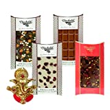 Chocholik Belgium Chocolate Gifts - Heavenly Combination Of Belgian Chocolate Bars With Ganesha Idol - Diwali...