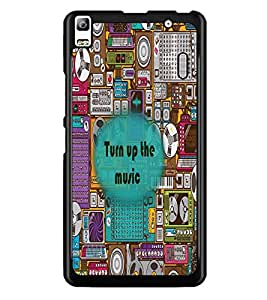 PrintDhaba Quote D-2677 Back Case Cover for LENOVO K3 NOTE (Multi-Coloured)