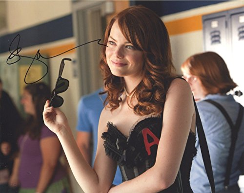 Emma Stone Amazing Spiderman Signed Autographed 8x10 Photo PSA/DNA COA
